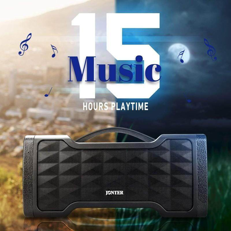 Jonter M91 IPX5 Waterproof Wireless Bluetooth 4.2 Portable Speaker 3000mAh with 32GB TF Card Supported