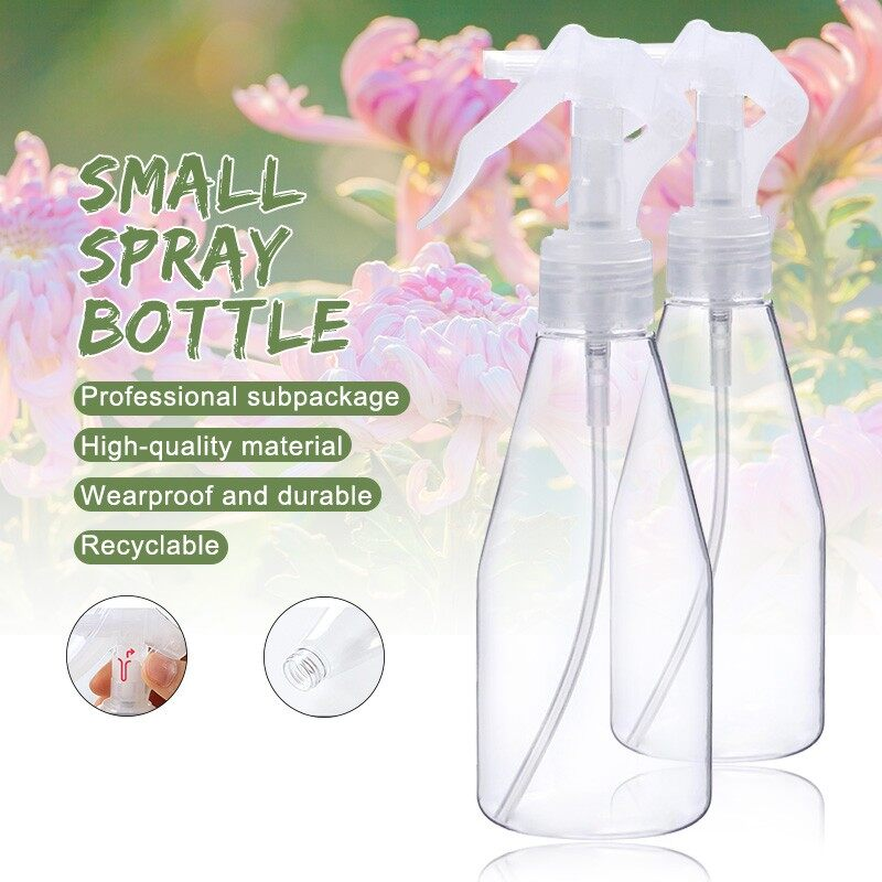 200ml Spray Bottle Transparent for watering alcohol disinfection traveling