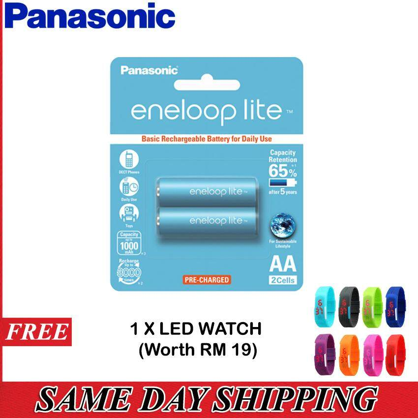 PANASONIC Eneloop Lite 1000mAh Rechargeable Battery (AA) - 2 Pieces Blister