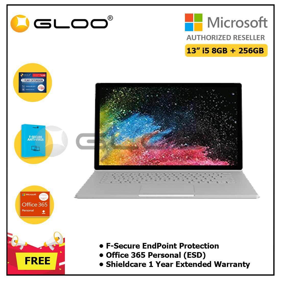 """Microsoft Surface Book2 13"""" Core i5/8GB RAM - 256GB + Shieldcare 1 Year Extended Warranty + F-Secure EndPoint Protection + Office 365 Personal ESD"""