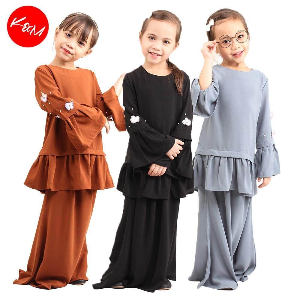Bella Peplum Kids Baju Kurung / Girls Traditional Set Wear [M12300]