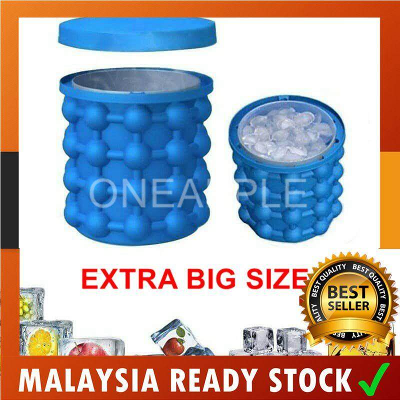 Ice Cube Maker Genie Silicone Ice Bucket Space Saving Ice Cube Maker