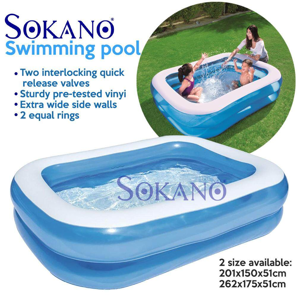Sokano Bestway Super Large 2 Layers Inflatable Swimming Pools For Kid & Family - Premium