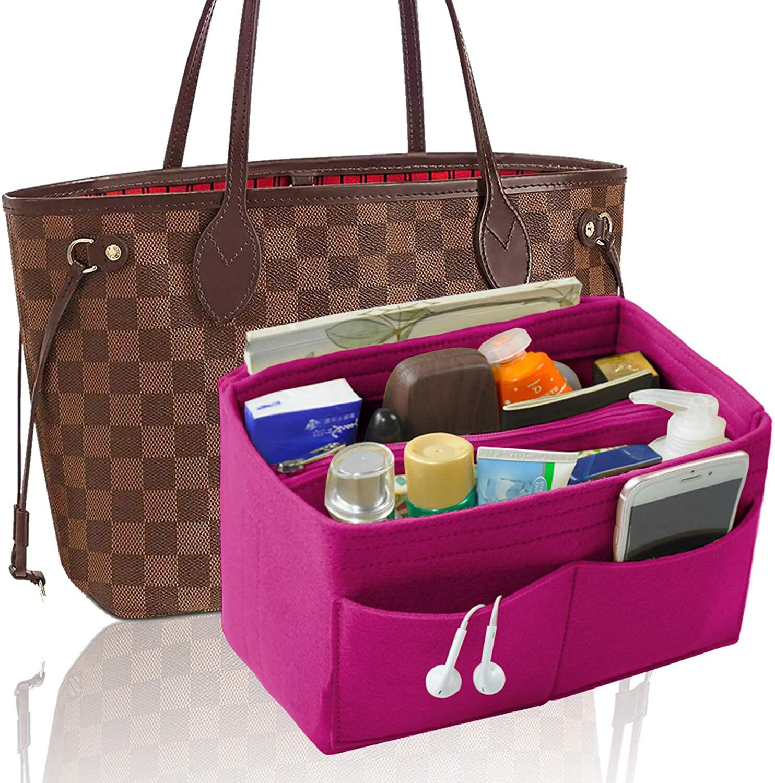 Smartconnกระเป๋าสักหลาดเฟ็ลทOrganizer,กระเป๋าแบ่งช่องแทรก,กระเป๋ากระเป๋าถือทรงโทตOrganizerที่สมบูรณ์แบบสำหรับSpeedy Neverfullและอีกมากมาย