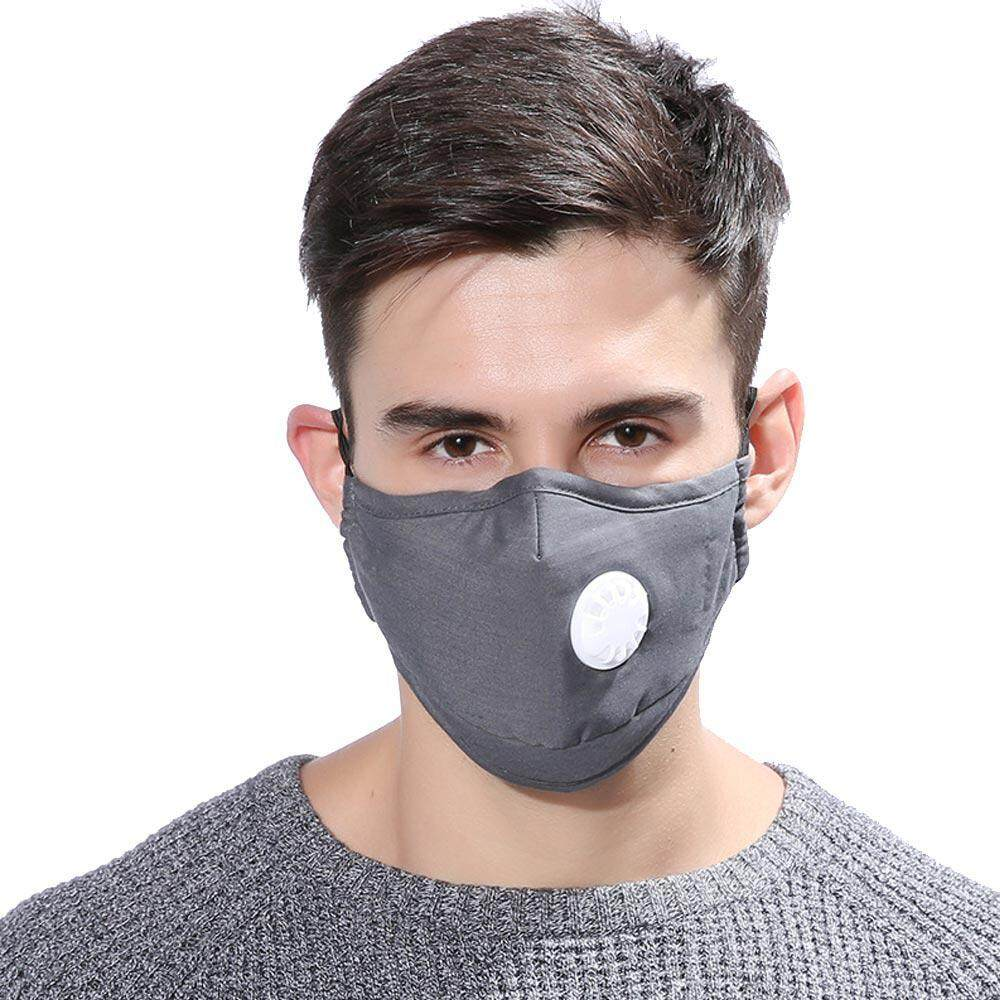 Mouth Breath Face Cover Women Men Safety For With Made Dustproof Teekeer Reusable Mask And Respirator Valve Washable
