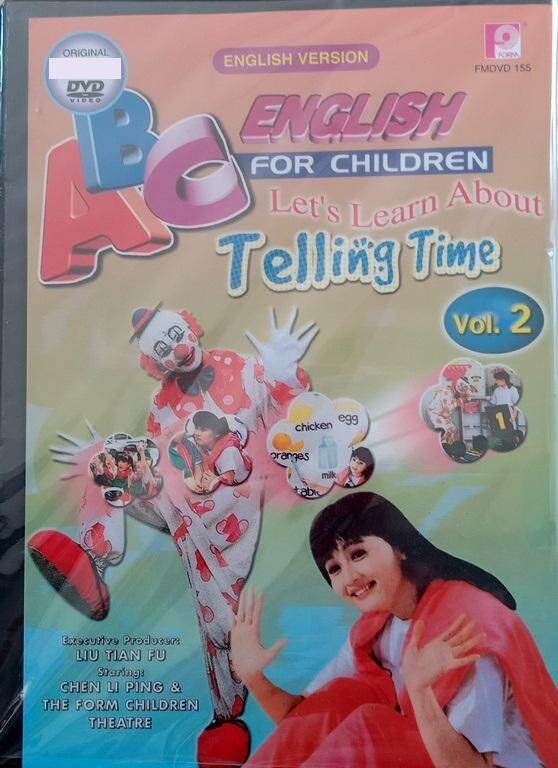 ABC English For Children Let's Learn About Telling Time Vol.2 DVD English Version