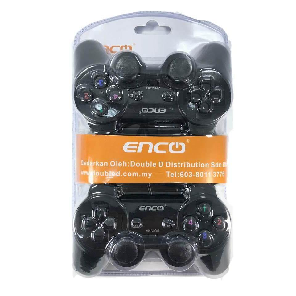 Enco GP-711D USB Gamepad Dual Shock Double Joystick Combo Set (2 Controller Unit)