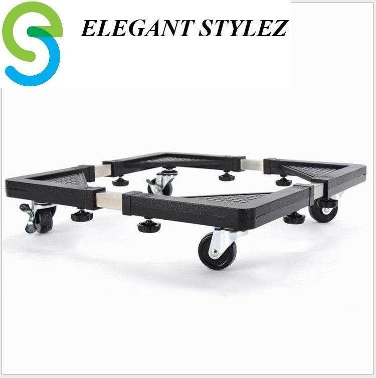 ELEGANT STYLEZ Universal Adjustable Stainless Steel Stand Trolley for Washing Machine & Refrigerator