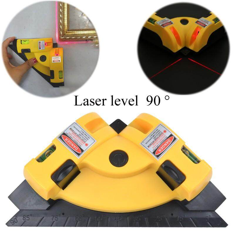 DIY Tools - Right Angle 90 Degree Laser Levels High Precision Angle Meter Infrared Laser - [YELLOW / RED]