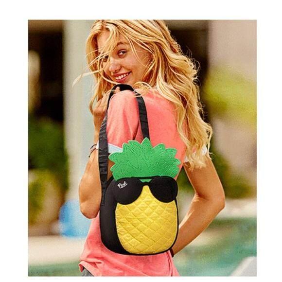 Victoria\'s Secret Pink Pineapple Shaped Cooler Bag