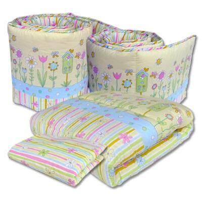 Bumble Bee: 4pcs Crib Set / Bedding Set (KNIT FABRIC) - LOVELY GARDEN