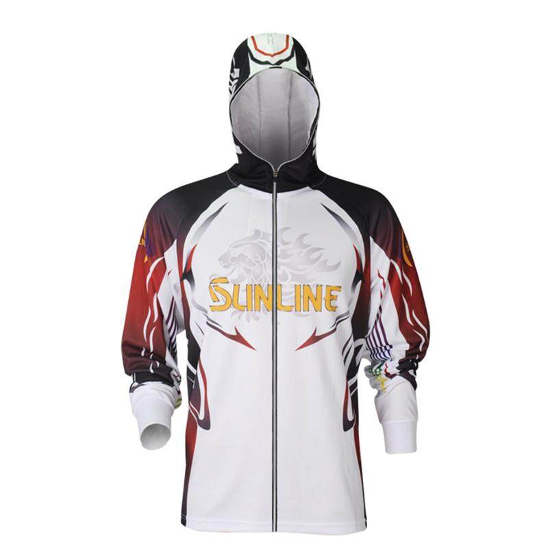 Men Sunscreen UV Fishing Breathable Quick Dry Outdoor Sportswear Mosquito Shirt