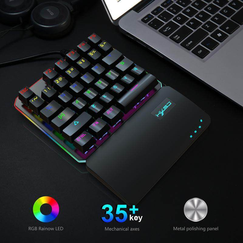 efe5e7ec505 niceEshop RGB One-Hand Mechanical Gaming Keyboard, 35 Keys One Handed  Keyboard with Kinds of Backlight, USB Wired Gaming Keypad With Wrist Rest  and 35 Fully ...
