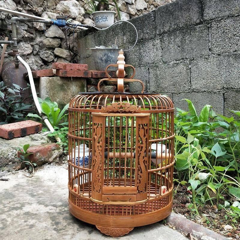 Jual Sangkar Burung Alis Yang Dicat Khusus untuk Delapan Bersaudara dan Burung Giok Bambu Buatan Tangan Guizhou Terbaru
