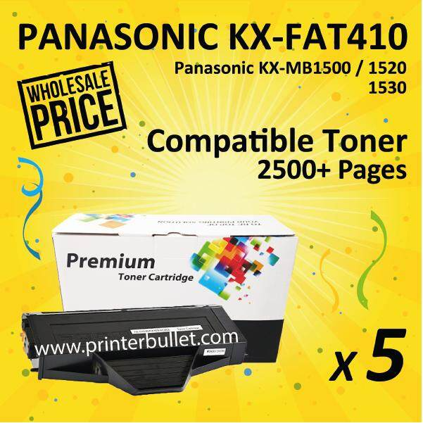 5 unit KX-FAT410 Black Compatible Toner Cartridge For KX-MB1500/1520/1530 Printer Toner