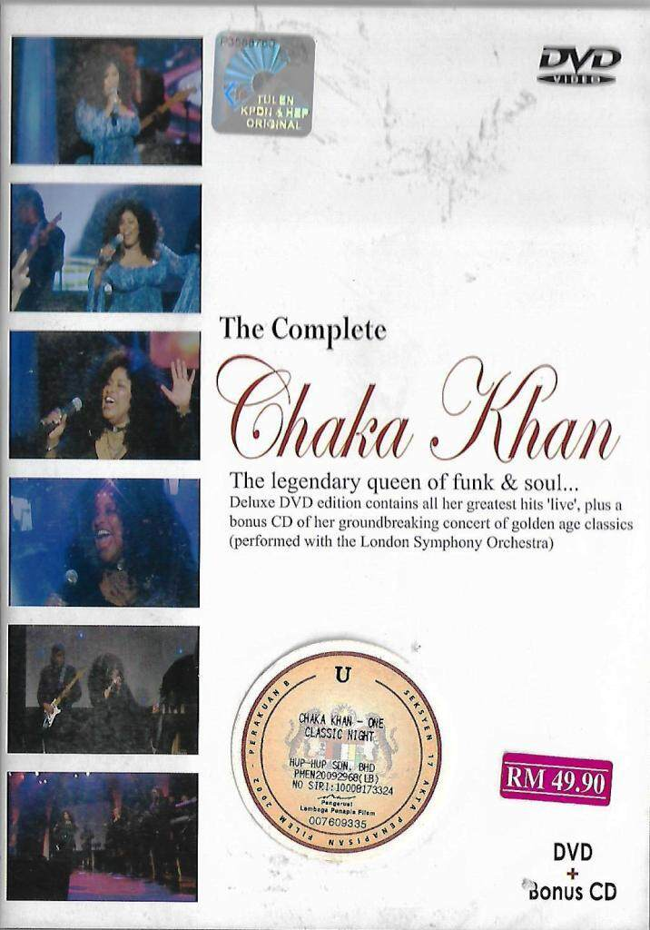 The Complete Chaka Khan Greatest Hits DVD Bonus CD