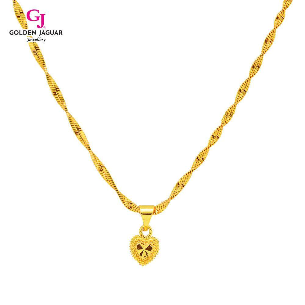 GJ Jewellery Emas Korea 24K Necklace - Rantai Leher Gila-Gila Simple Love (40602)