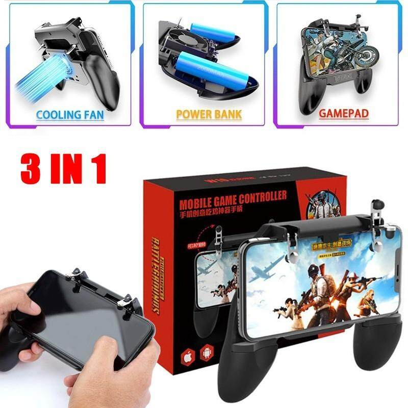 Advanced Controllers - PUBG Mobile Power Game Controller Shooter Trigger  Gamepad with Cooling Fan - [W10 / SR1 - 2000MAH / SR2 - 4000MAH]