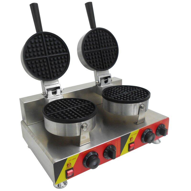 Fresco Waffle Round Shape Maker Machine Double Electric