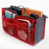 Handbag Pouch Bags in Bag Purse Organiser Travel Cosmetic Insert Bag - RED