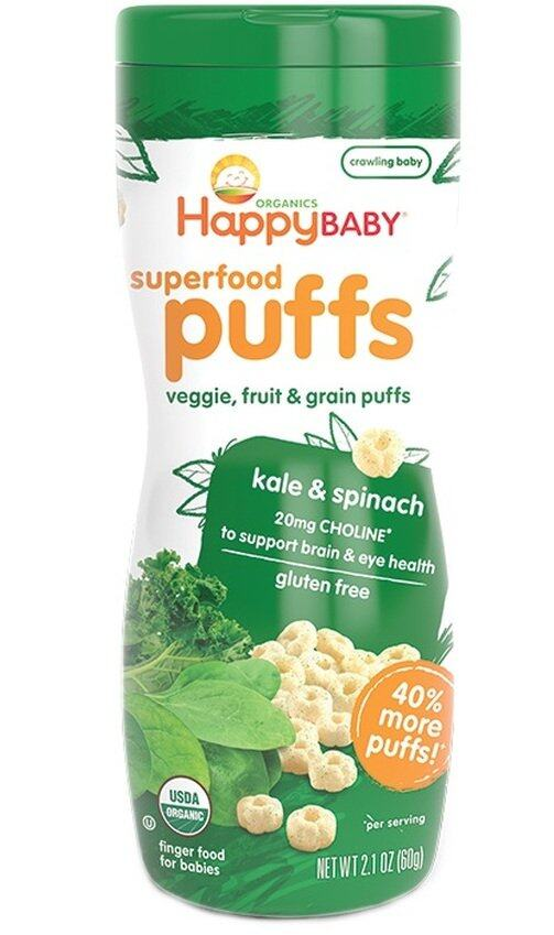 Happy Baby Organic Puffs (Kale & Spinach)