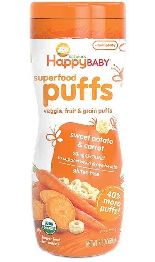 Happy Baby Organic Puffs (Sweet Potato & Carrot)