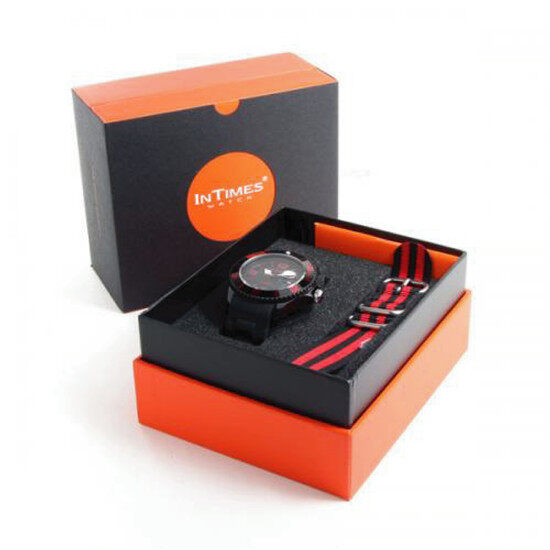 InTimes Watch NYLON Gift Set (Red)