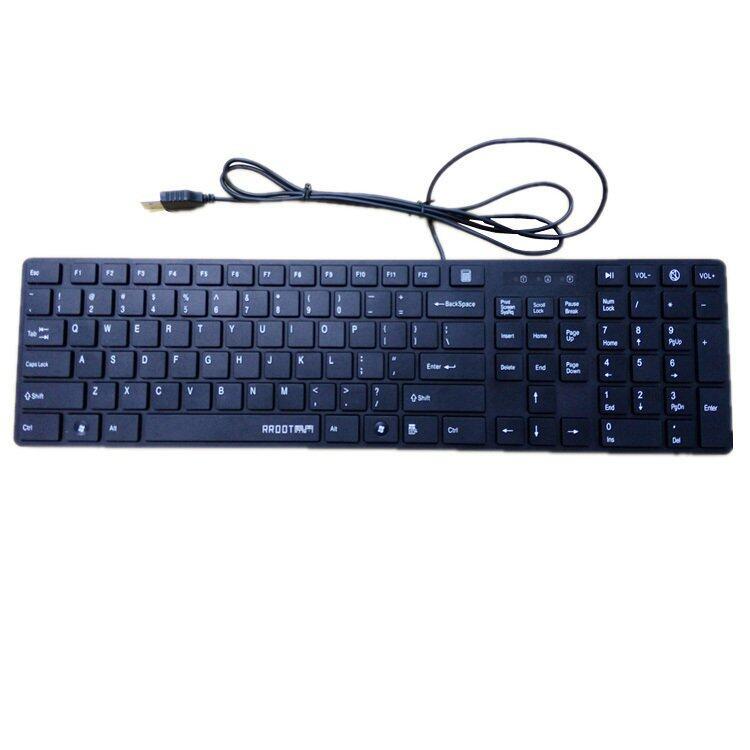 KB-908 USB Slim Keyboard (Black)