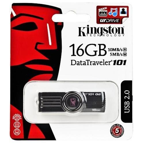Kingston 16GB Data Traveler 101 USB 2.0 Flash Drive (Black)