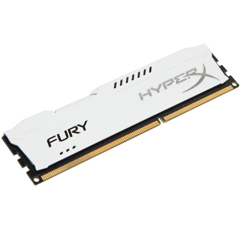 Kingston 8GB Hyper X Fury 1600 Dimm Ram (White)