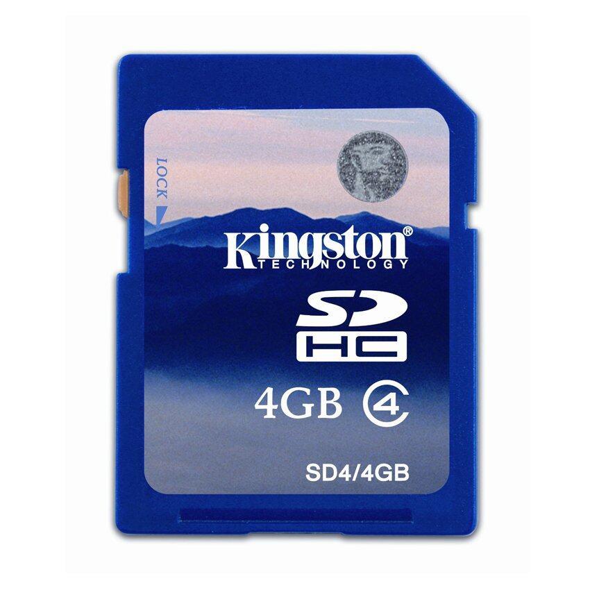 Kingston SD4 4GB Memory Card (Blue)
