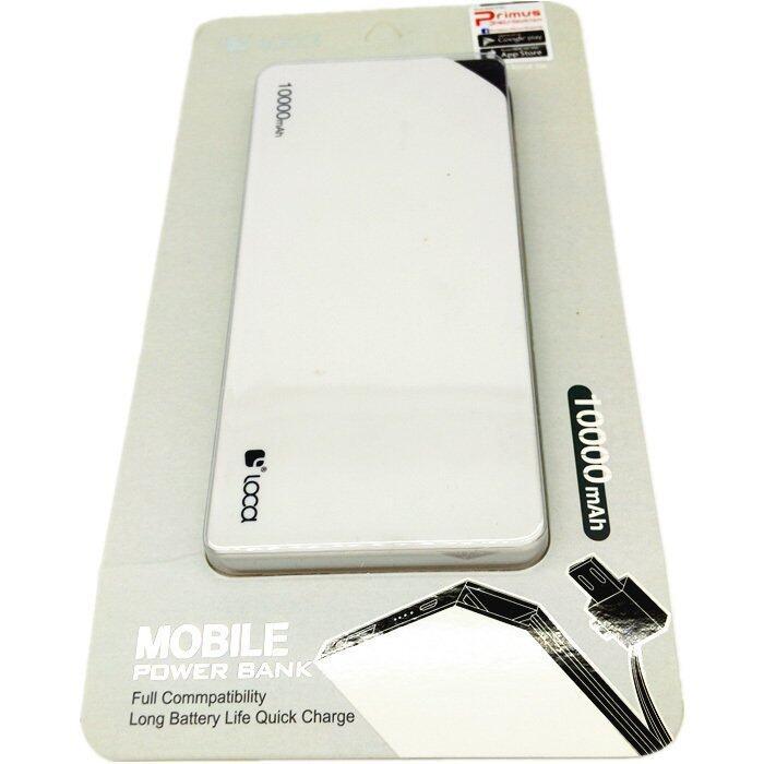 Loca Ultra Slim Power Bank 10000mAh Quick Charge- White