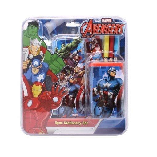 Marvel Avengers 6pcs Stationery Set - Blue Colour