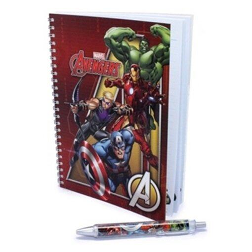 Marvel Avengers A5 Note Book 50'S With Pen Set - Red Colour