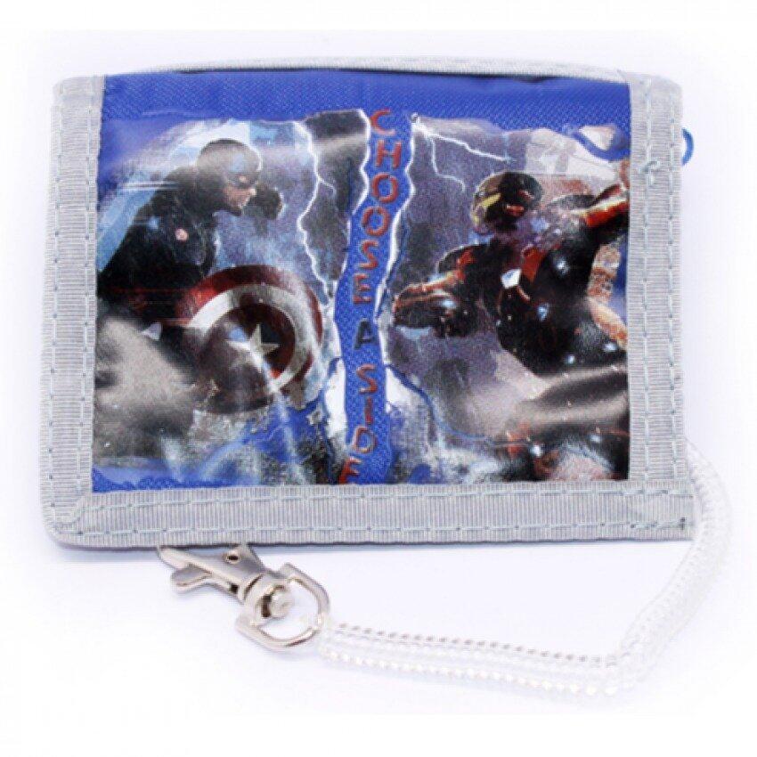 Marvel Avengers Captain America Civil War 2 Folded Wallet - Blue Colour