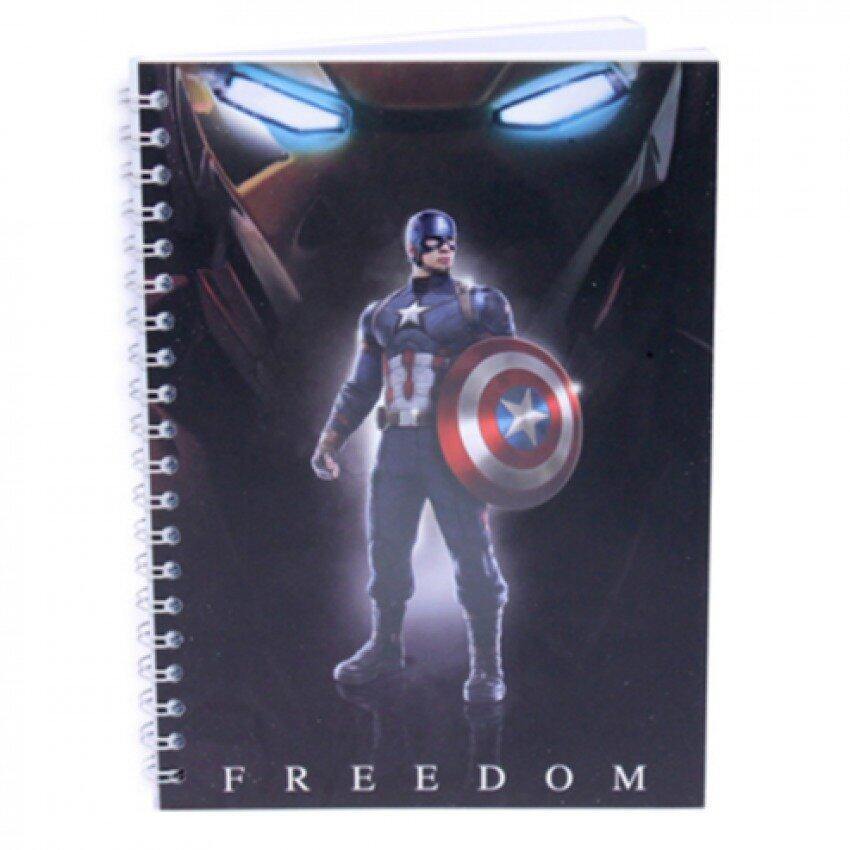 Marvel Avengers Captain America Civil War Notebook - Captain America