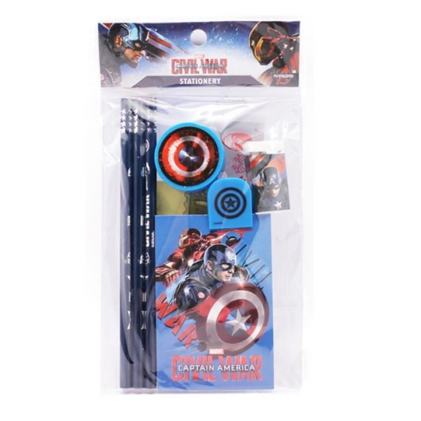 Marvel Avengers Captain America Civil War Stationery Set - Blue Colour