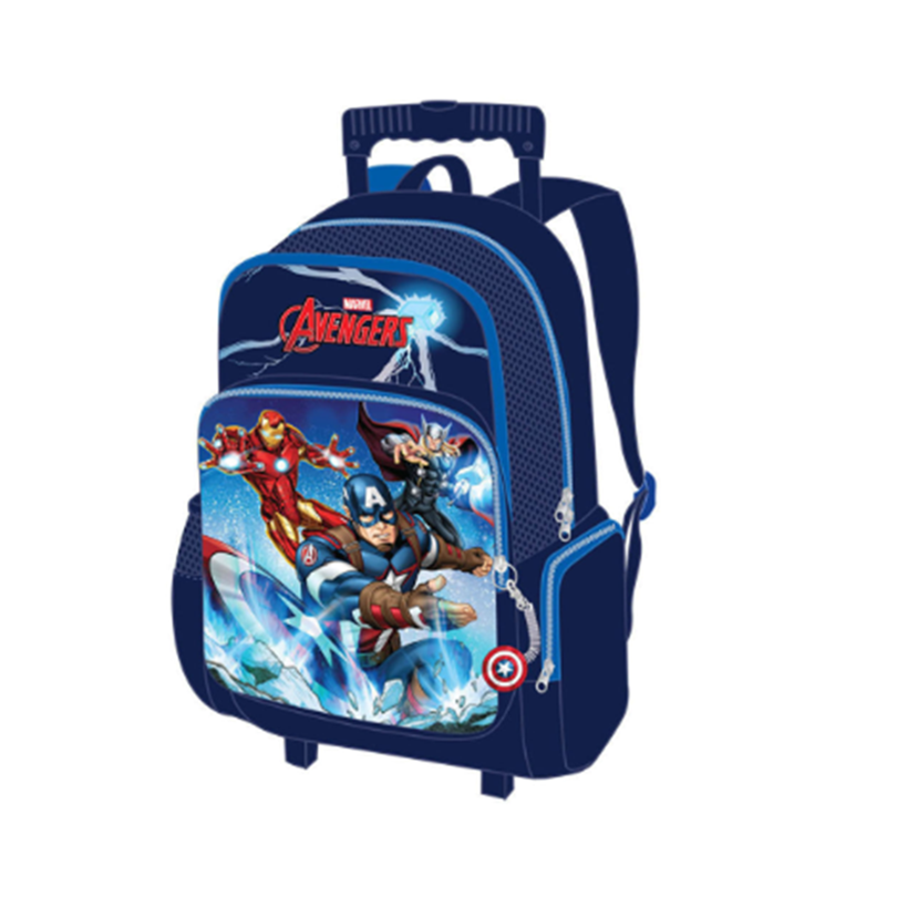 Marvel Avengers School Trolley Bag 17 Inches - Blue Colour