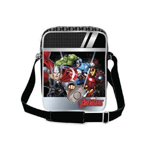 Marvel Avengers Vertical Messenger Bag - Black Colour