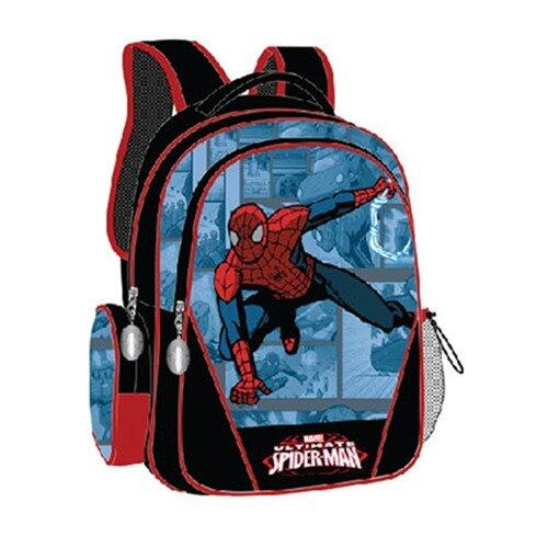 Marvel Spiderman Backpack 12.5 Inches - Black And Blue Colour