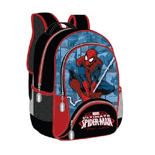 Marvel Spiderman Backpack 16 Inches - Black And Blue Colour