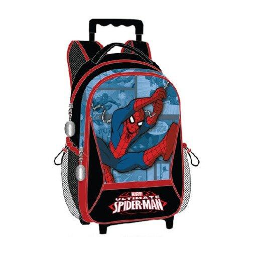 Marvel Spiderman Trolley Bag 16 Inches - Black And Blue Colour