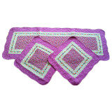 Maylee 3 In 1 Car Seat Patchwork Mat set Of 3 (Purple)
