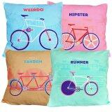 Maylee 4pcs Multicolour Pillow Cases (Outdoor Bicycle)