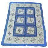 Maylee Ct Lovely Flower Cotton Carpet - Blue