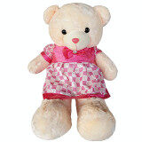 Maylee Cute Giant Plush 100cm (1m) Teddy Bear with Pink Dress  toys for girls