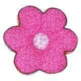 Maylee Flower Shape Patchwork Pillow Dark Pink Flower 40cm