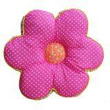 Maylee Flower Shape Patchwork Pillow Dark Pink Poka Dot 40cm