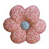 Maylee Flower Shape Patchwork Pillow Red Small Flower 40cm