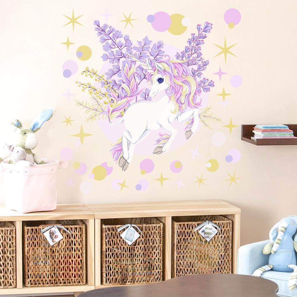 Review Kartun Lucu Unicorn Bintang Stiker Dinding Untuk Anak Anak